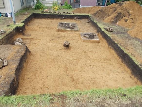 昨年度の発掘現場