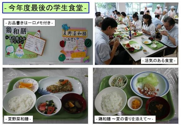 今年度最後の学生食堂
