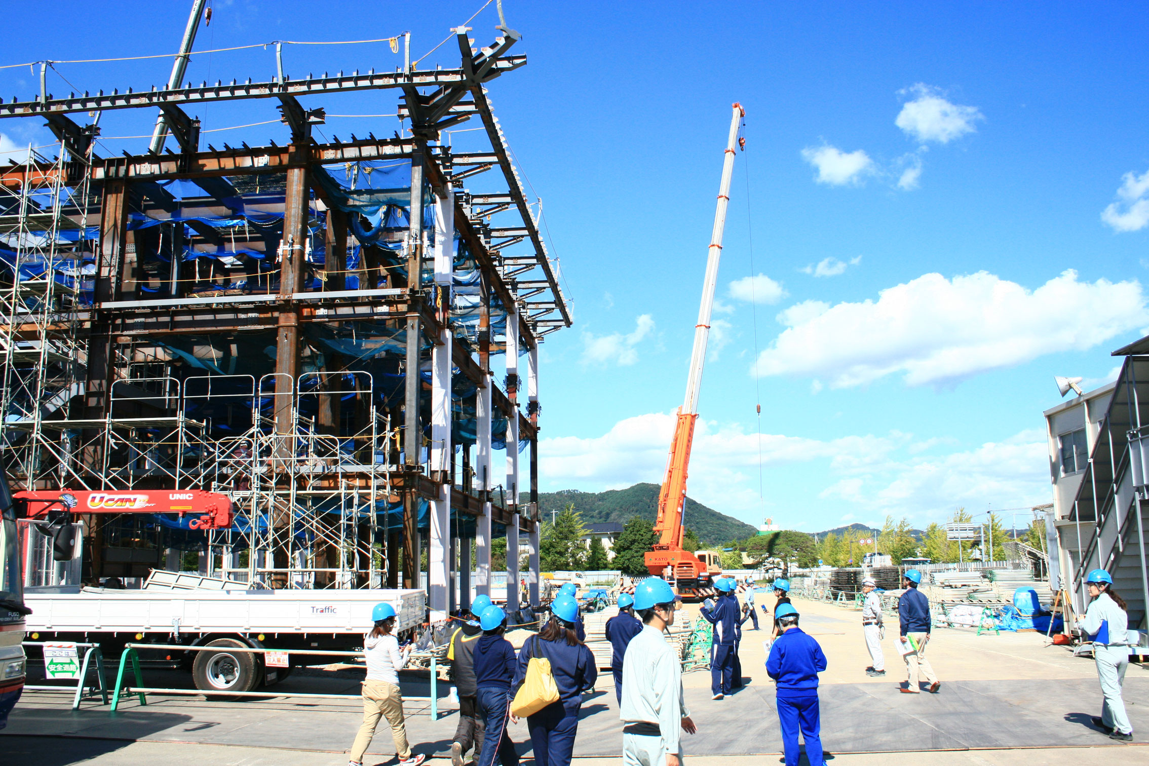 国見町役場庁舎は日本で4例目となる木質ハイブリットを使用