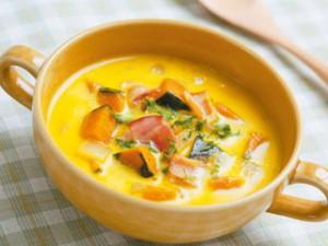 ほくほくかぼちゃでミルクスープ♪