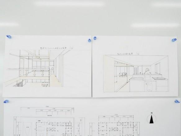 提出作品1 模型やパースを使って内部空間を表現