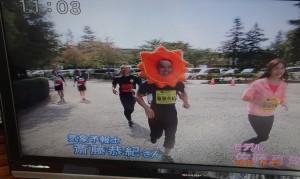 開成山公園会場で走っている様子です。